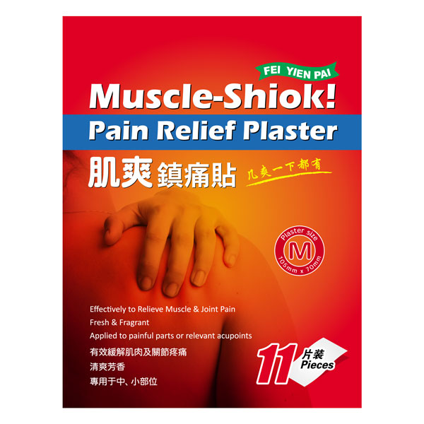 Fei Yien Pai Muscle-Shiok Pain Relief Plaster (11/ 33 Pieces)